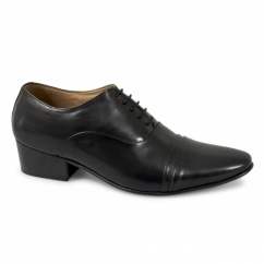 TONI Mens Soft Leather Lace Up Cuban Heel Shoes Black