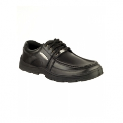 TONY Boys Lace Up Smart School Shoes Black