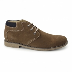 TOR Mens Suede Leather Desert Boots Tan