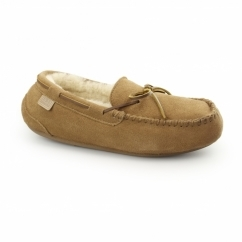 TORRINGTON Mens Sheepskin Moccasin Slippers Chestnut