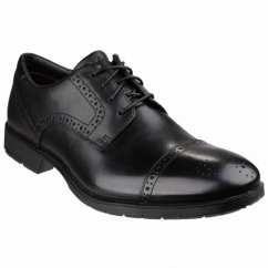 TOTAL MOTION CAP TOE Mens Leather Lace Shoes Black