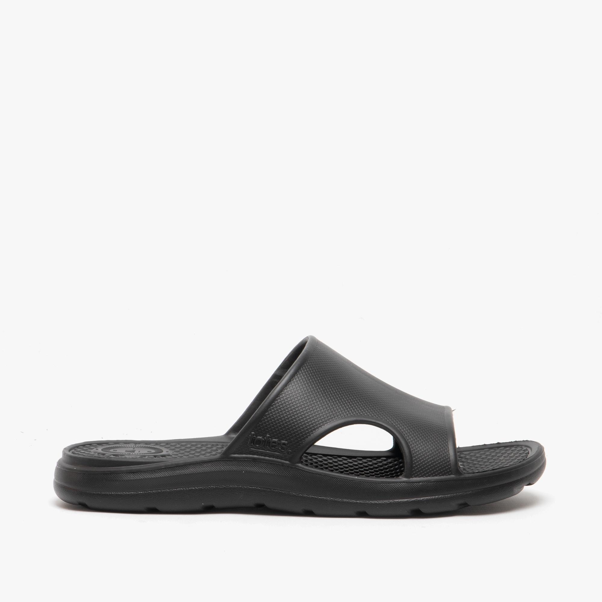 Totes Sol Bounce 20 Mens Everywear Slide Sandals Black