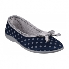 TOULON Ladies Full Slippers Navy