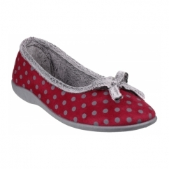 TOULON Ladies Full Slippers Red