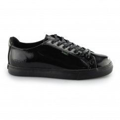 Kickers TOVNI LACER Girls Patent Leather Trainers Black