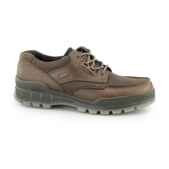 TRACK II Mens Leather Waterproof Lace Up Walking Shoes Bison
