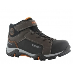 TRAIL OX MID Junior Kids WP Walking Boots Chocolate/Orange