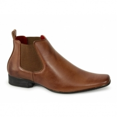TRAPATONI Mens Gusset Chelsea Boots Tan
