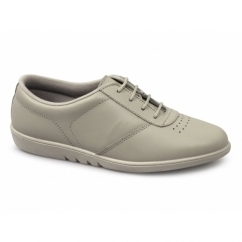 TREBLE Ladies Leather Leisure Oxford Shoes Beige