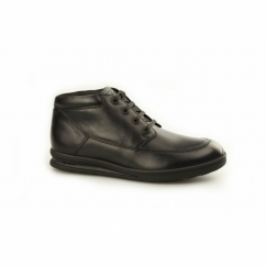 TROIKO BOOT Boys Leather Chukka Boots Black
