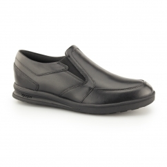 TROIKO SLIP Boys Leather Shoes Black
