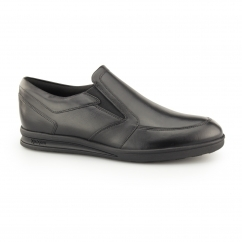 TROIKO SLIP Mens Leather Shoes Black