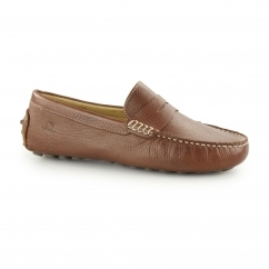 Chatham TROPEZ Ladies Leather Driving Moccasins Brown