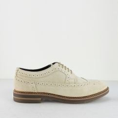 Base London TURNER Mens Suede Brogue Shoes Sand