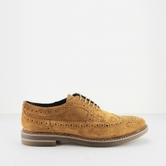 Base London TURNER Mens Quality Suede Leather Brogue Shoes Tan