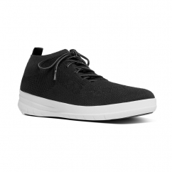 UBERKNIT™ Ladies Knitted Slip On Trainers Black