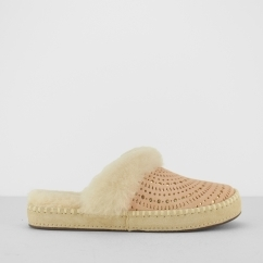 UGG AIRA SUNSHINE PERF Ladies Mule Slippers Tropical Peach