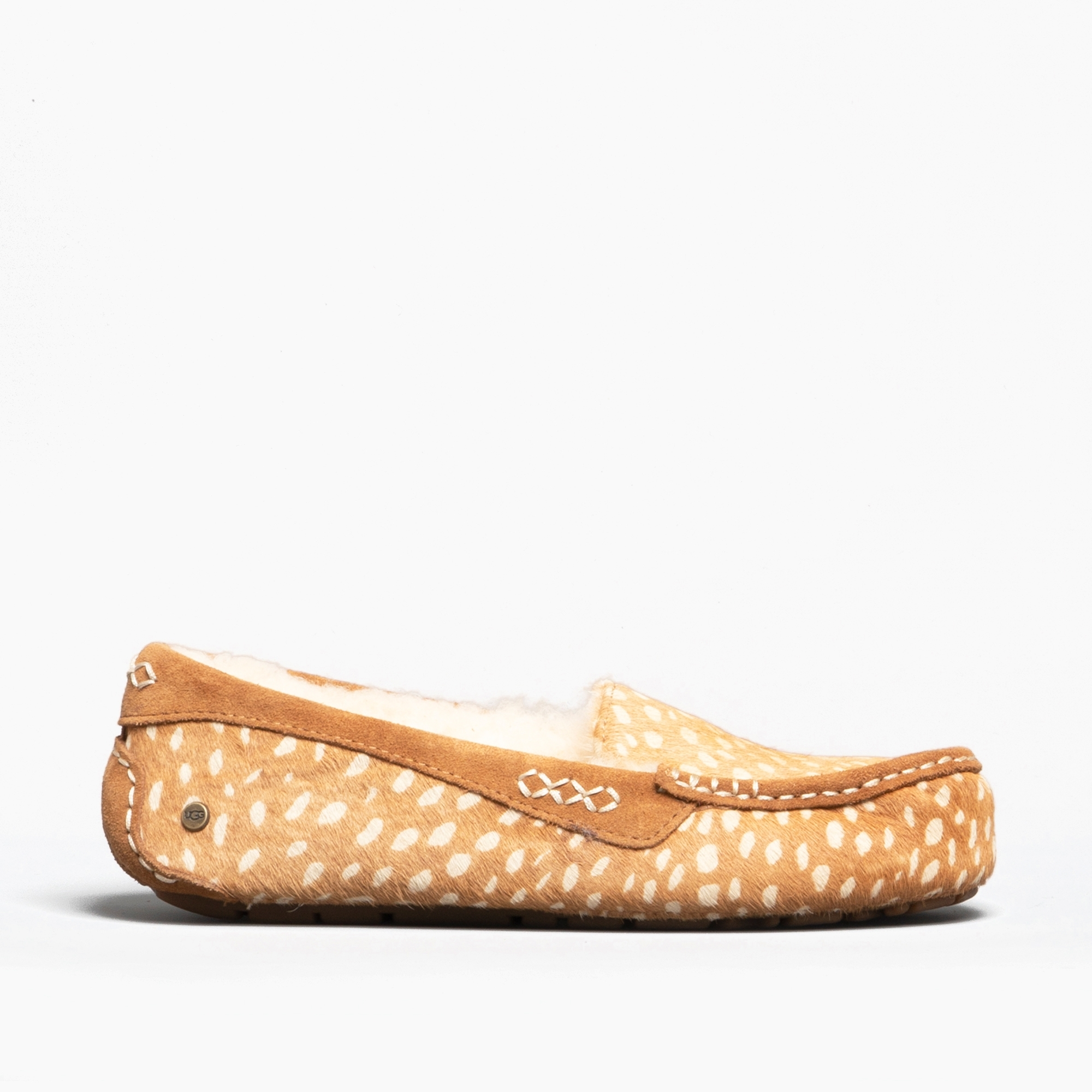 763d077ccf7 UGG ANSLEY IDYLLWILD Ladies Moccasin Slippers Chestnut