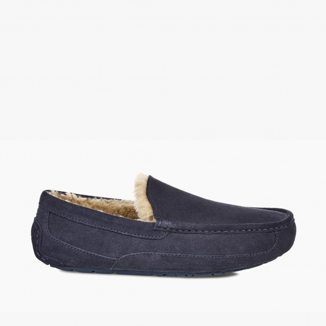 7a5a160dc85 ASCOT Mens Moccasin Slippers True Navy