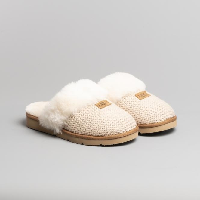 5522aff2bb6 COZY KNIT Ladies Mule Slippers Cream