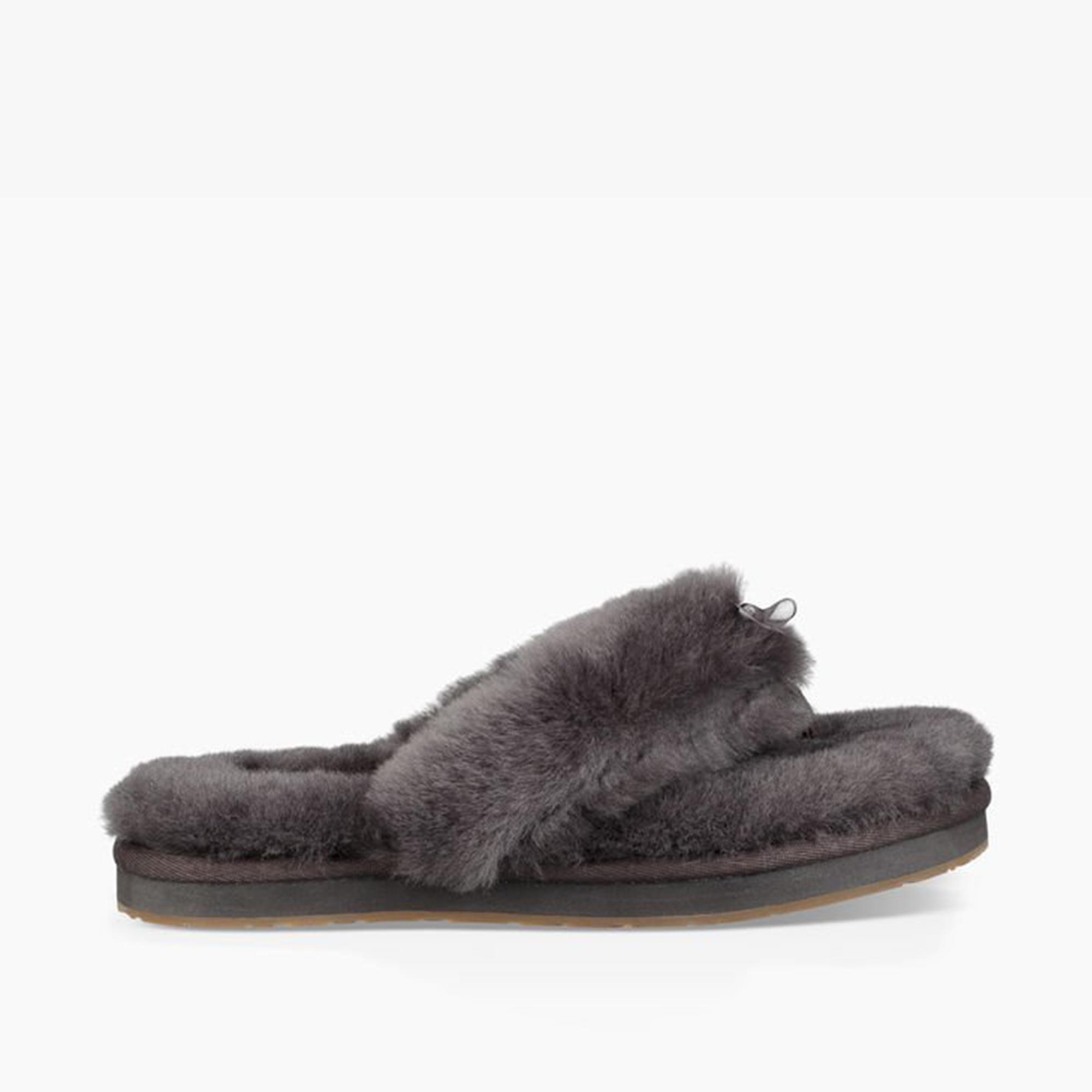 e8042daa982 UGG FLUFF FLIP FLOP III Ladies Toe Post Slippers Grey