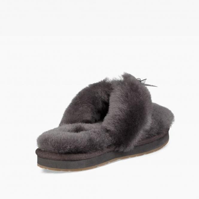 c03b90d3215 UGG FLUFF FLIP FLOP III Ladies Toe Post Slippers Grey