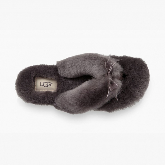 9652f67fd91 UGG FLUFF FLIP FLOP III Ladies Toe Post Slippers Grey