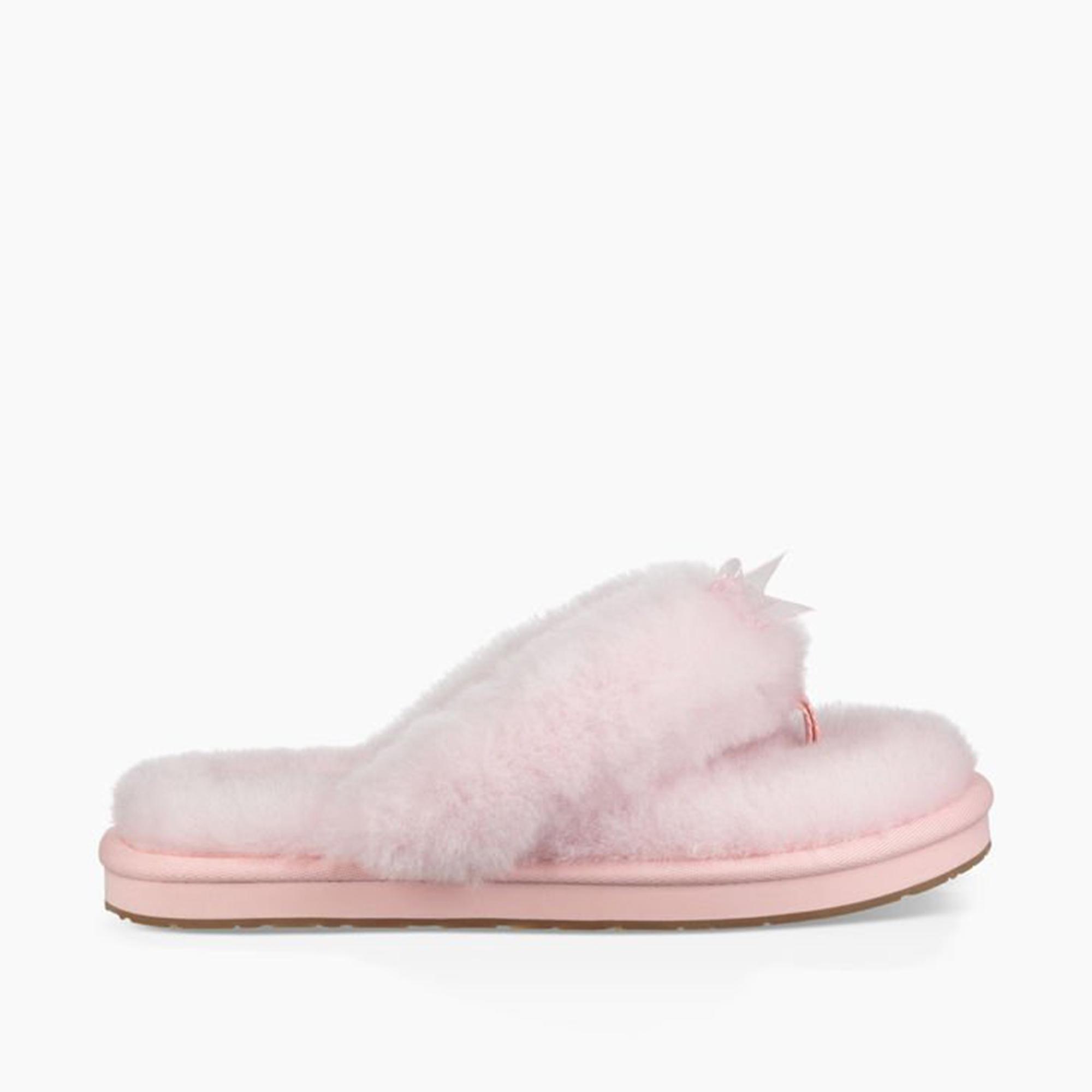 4c5f88d7dba UGG FLUFF FLIP FLOP III Ladies Toe Post Slippers Seashell Pink