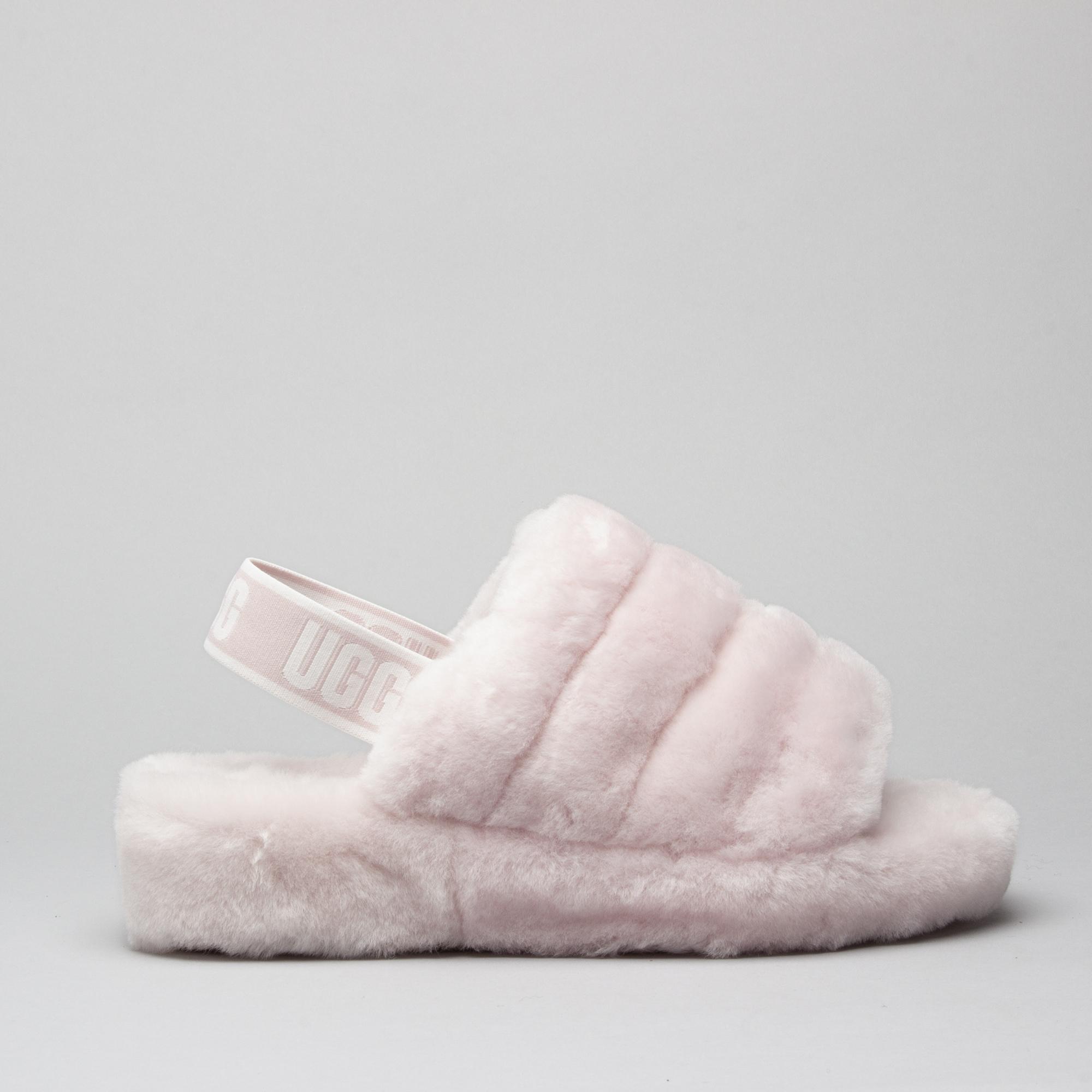 dc1e5e4fc8e UGG FLUFF YEAH SLIDE Ladies Slide Slippers Seashell Pink