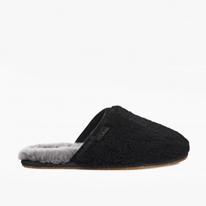 403d40a2e5a FLUFFETTE Ladies Wool Mule Slippers Black