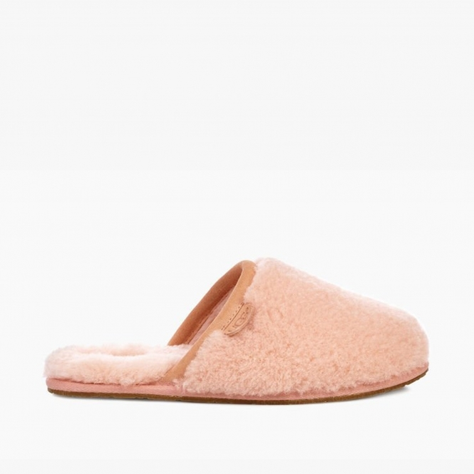 4c75fde13d9 FLUFFETTE Ladies Wool Mule Slippers Sunset