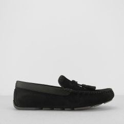 MARRIS Mens Loafer Slippers Black