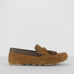 MARRIS Mens Loafer Slippers Chestnut