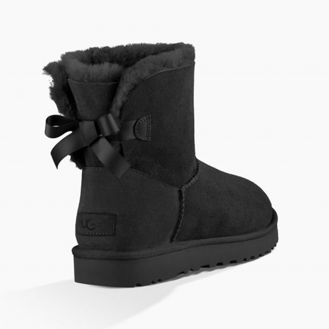 411a09d7456 UGG MINI BAILEY BOW II Ladies Sheepskin Boots Black
