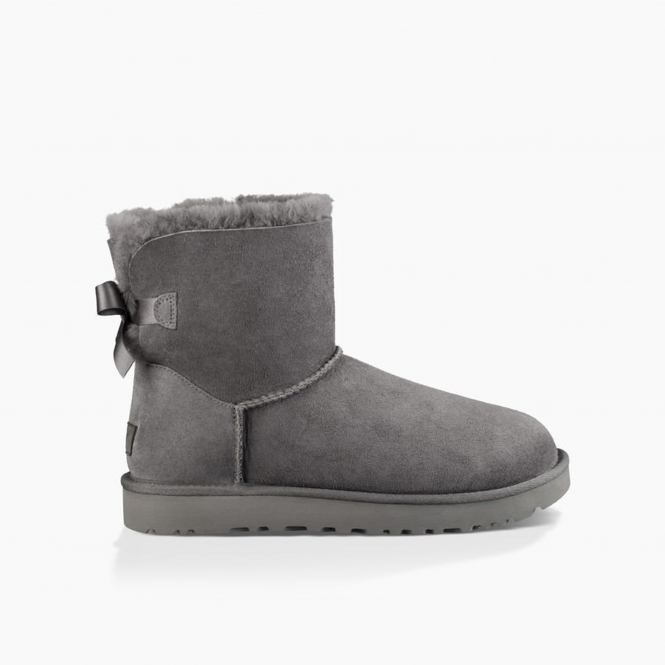0dc71250b06 MINI BAILEY BOW II Ladies Sheepskin Boots Grey