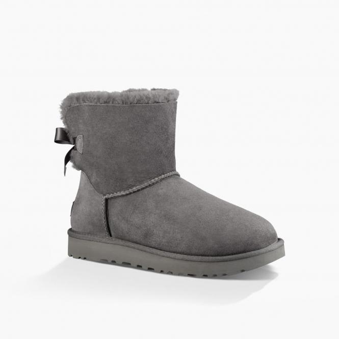 373ae45de91 MINI BAILEY BOW II Ladies Sheepskin Boots Grey