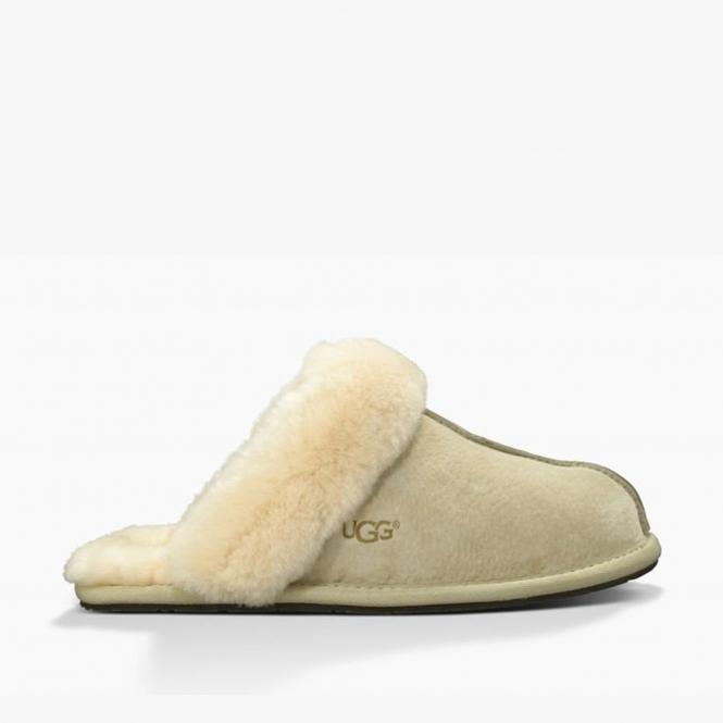2b4f2a3329c SCUFFETTE II Ladies Suede Mule Slippers Sand