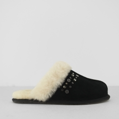 UGG SCUFFETTE II STUDDED BLING Ladies Mule Slippers Black