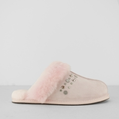 UGG SCUFFETTE II STUDDED BLING Ladies Mule Slippers Seashell Pink