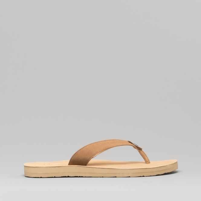6a8889c21bb TAWNEY Ladies Leather Flip Flops Chestnut