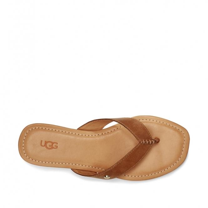UGG TUOLUMNE Ladies Leather Flip Flops