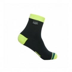 ULTRALITE BIKING Unisex Ankle Waterproof Socks Black/Hi-Vis Yellow