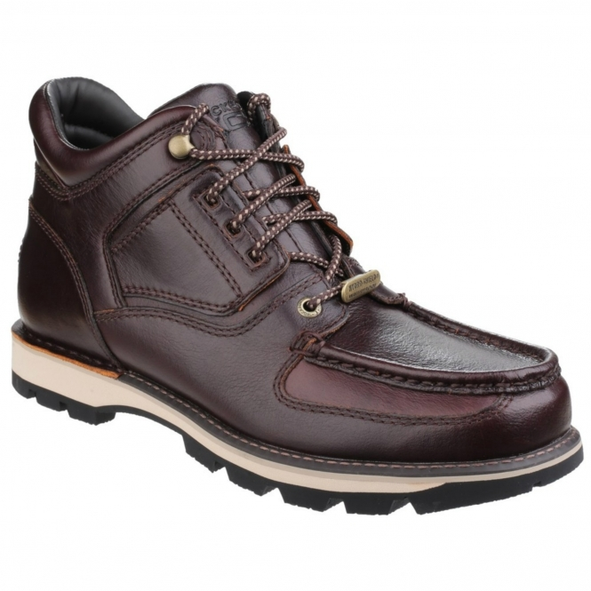 Rockport UMBWE TRAIL WP Mens Leather Trail Boots Red Brown
