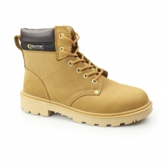 Unisex APPRENTICE S1 SRC Nubuck Safety Boots Honey
