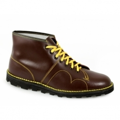 UNISEX Original Leather Monkey Boots Wine