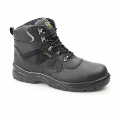 Unisex S3 SRC Leather Waterproof Safety Boots Black