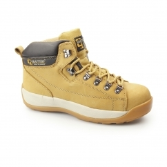 Unisex SB SRA Nubuck Leather Safety Boots Honey
