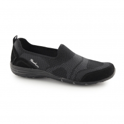 Skechers UNITY - MOONSHADOW Ladies Slip On Shoes Trainers Black