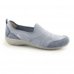 Skechers UNITY - MOONSHADOW Ladies Slip On Shoes Trainers Blue