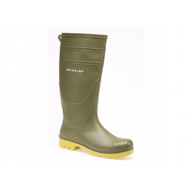 Dunlop UNIVERSAL Mens Easy Clean Wellington Boots Green